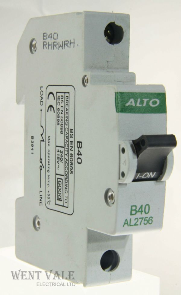 Alto AL2756 - 40a Type B Single Pole MCB Unused